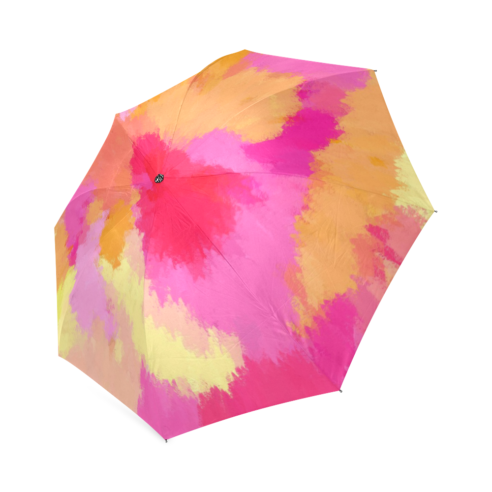 NEON BRIGHT COLOR Folding Compact Collapsible UMBRELLA Yellow Green Pink Orange