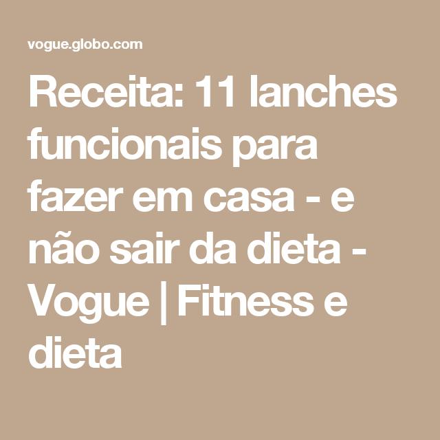 Receita: 11 lanches funcionais para fazer em casa - e não sair da dieta - Vogue | Fitness e dieta