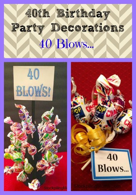 40th Birthday Party Decoration Idea    40 Blows 40th Birthday Party Decoration Idea    40 Blows    Cute ideas  . Diy Centerpieces For 40th Birthday Party. Home Design Ideas