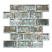 antique mirror bevel amalfi glass wall