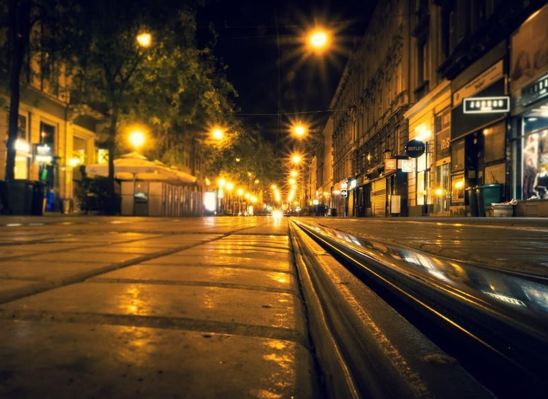 Ilica Street Travelphotography Zagreb Croatia Balkan City Citybreak Longexposure Night Photooftheday Photography Rail Night Light Fram In 2020