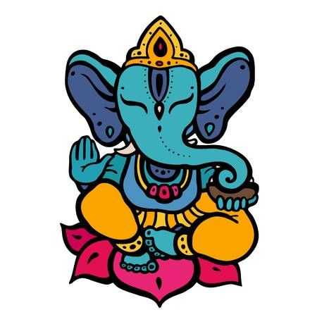 Dios Hindu Ganesha Imagenes De Ganesha Elefantes Pintados Ganesh Dibujo