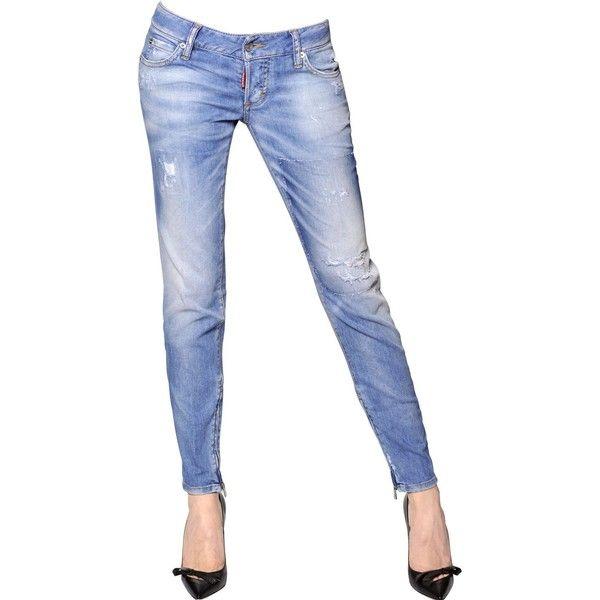 4a46017b DSQUARED Skinny Stretch Cotton Denim Jeans - Light Blue ...