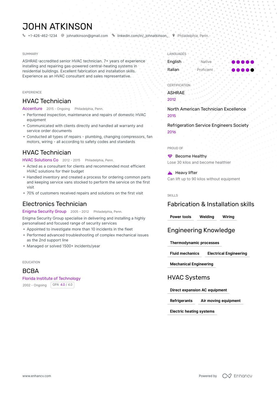HVAC Resume Samples and Writing Guide for 2020 Resume