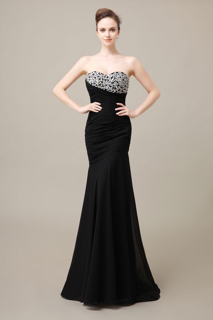 Nice evening dresses plus size ueue click to buy ucuc long black