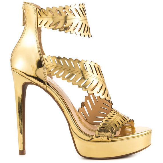 Jessica Simpson Azure platform sandals in metallic gold #heels ...