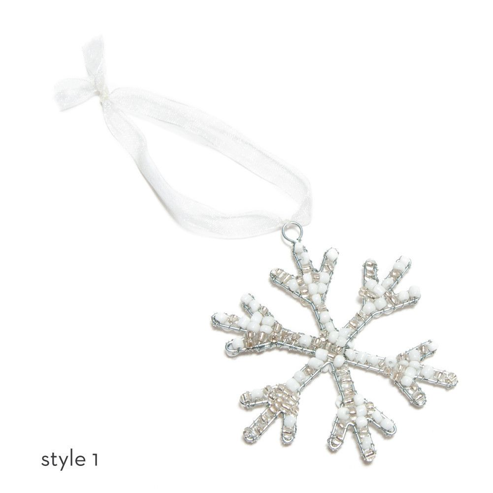 Are you dreaming of a #WhiteChristmas? Use our Beaded
