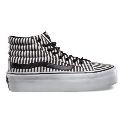 Vans Hickory Stripes SK8 Hi Platform (black)   Striped