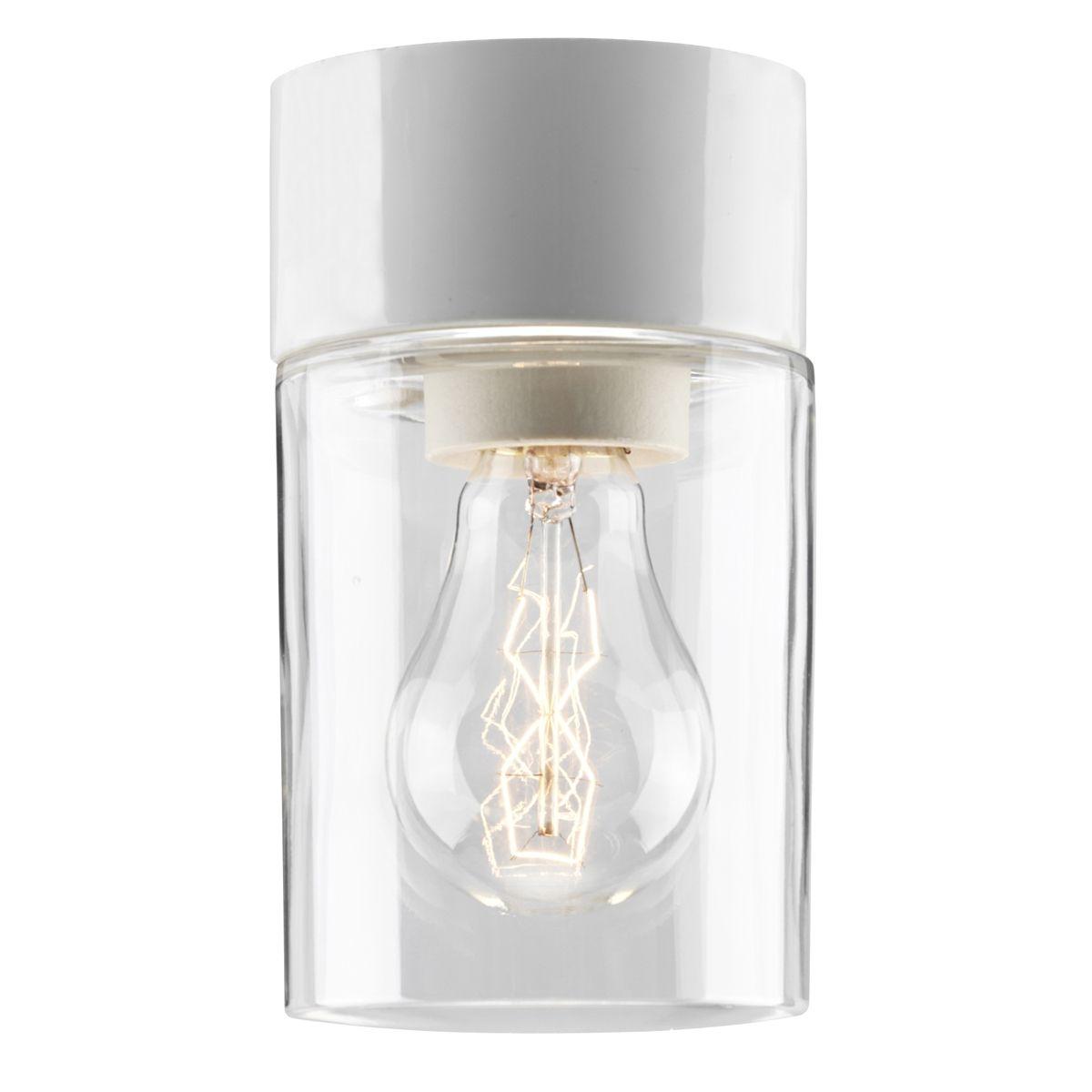 Plafonnier cylindrique au design minimaliste pour salle de bains et sauna lampe en c ramique et - Lampe de salle de bain ...