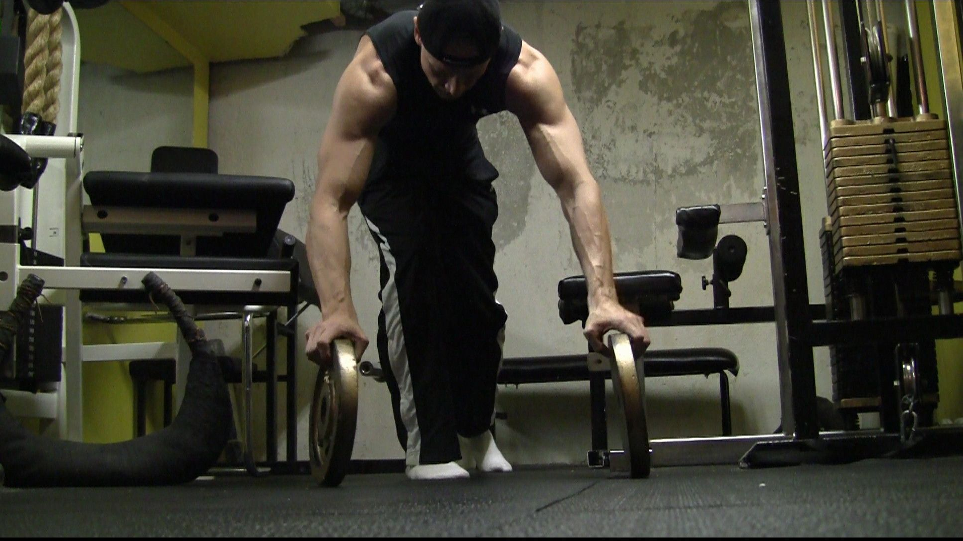 Plate push ups.