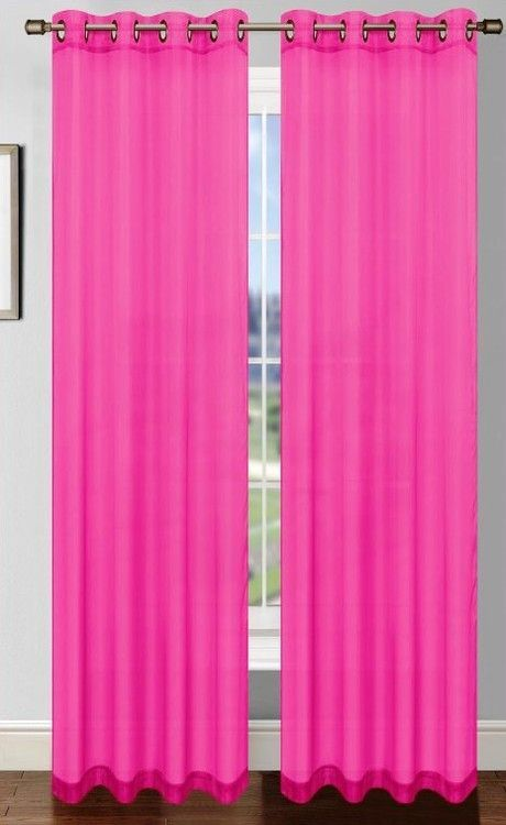 Bright Fuchsia Pink Curtain With Grommets Are A Great Idea For