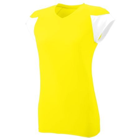 Kelly and White Small Augusta 1204A Ladies Wicking And Antimicrobial Rally Jersey