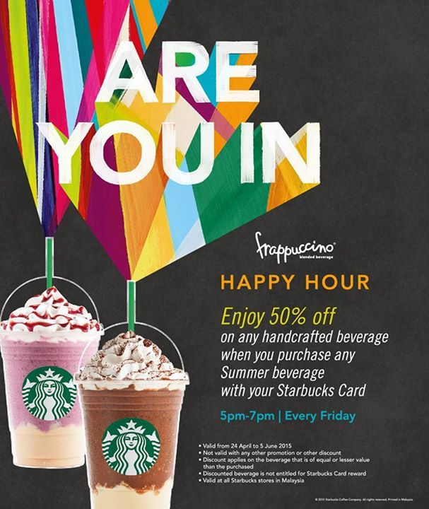 Starbucks Frappuccino Happy Hour Promotion In Malaysia Summer