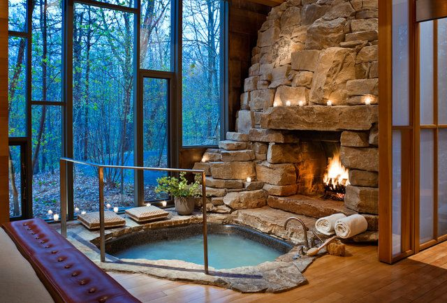 11 Hot Tubs In Amazing Places Indoor Hot Tub Dream House My Dream Home