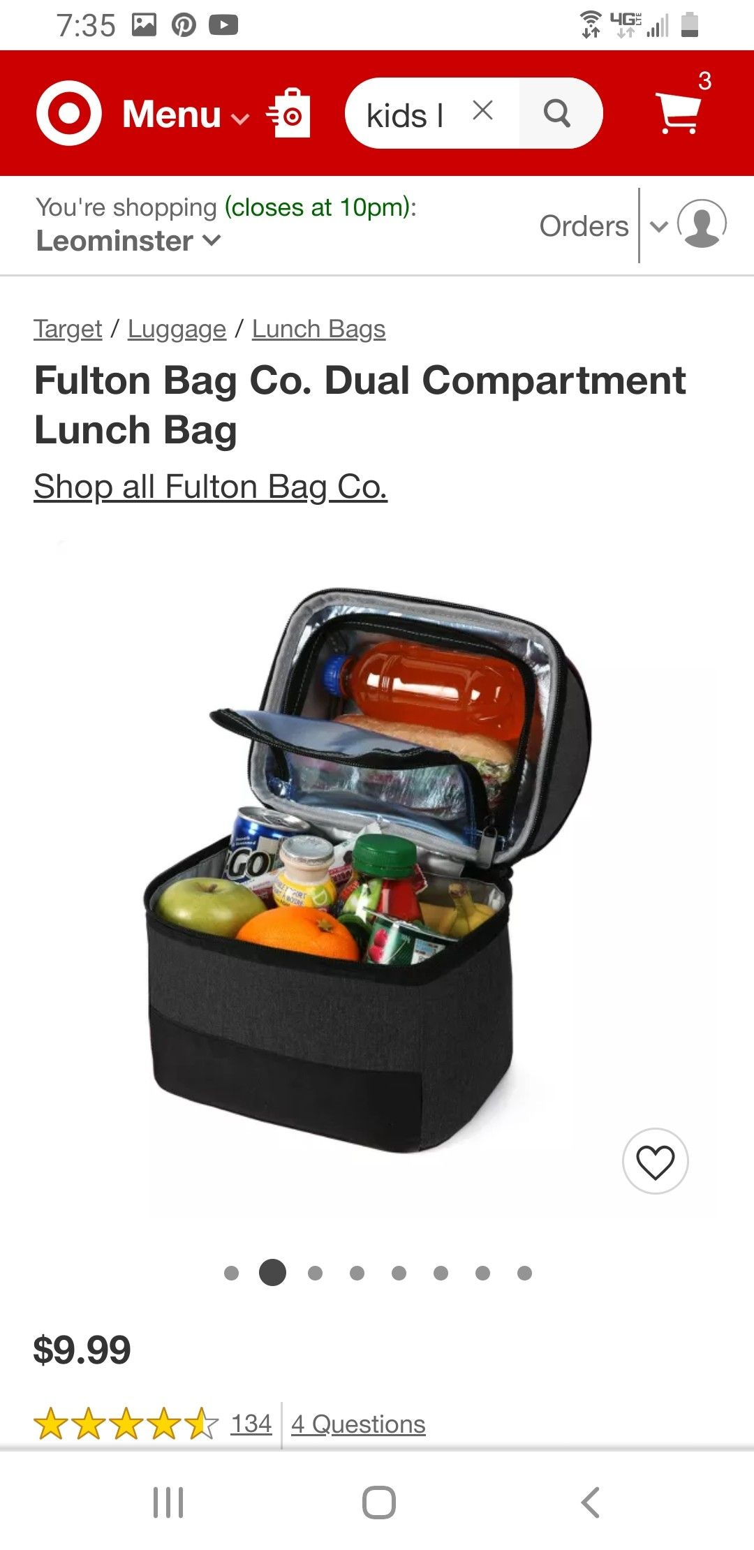 Fulton bag co dual compartment lunch bag in 2020 dual