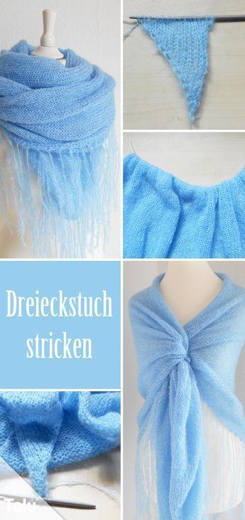 Photo of Dreieckiger Schal stricken – kostenlose DIY-Anleitung – Talu.de