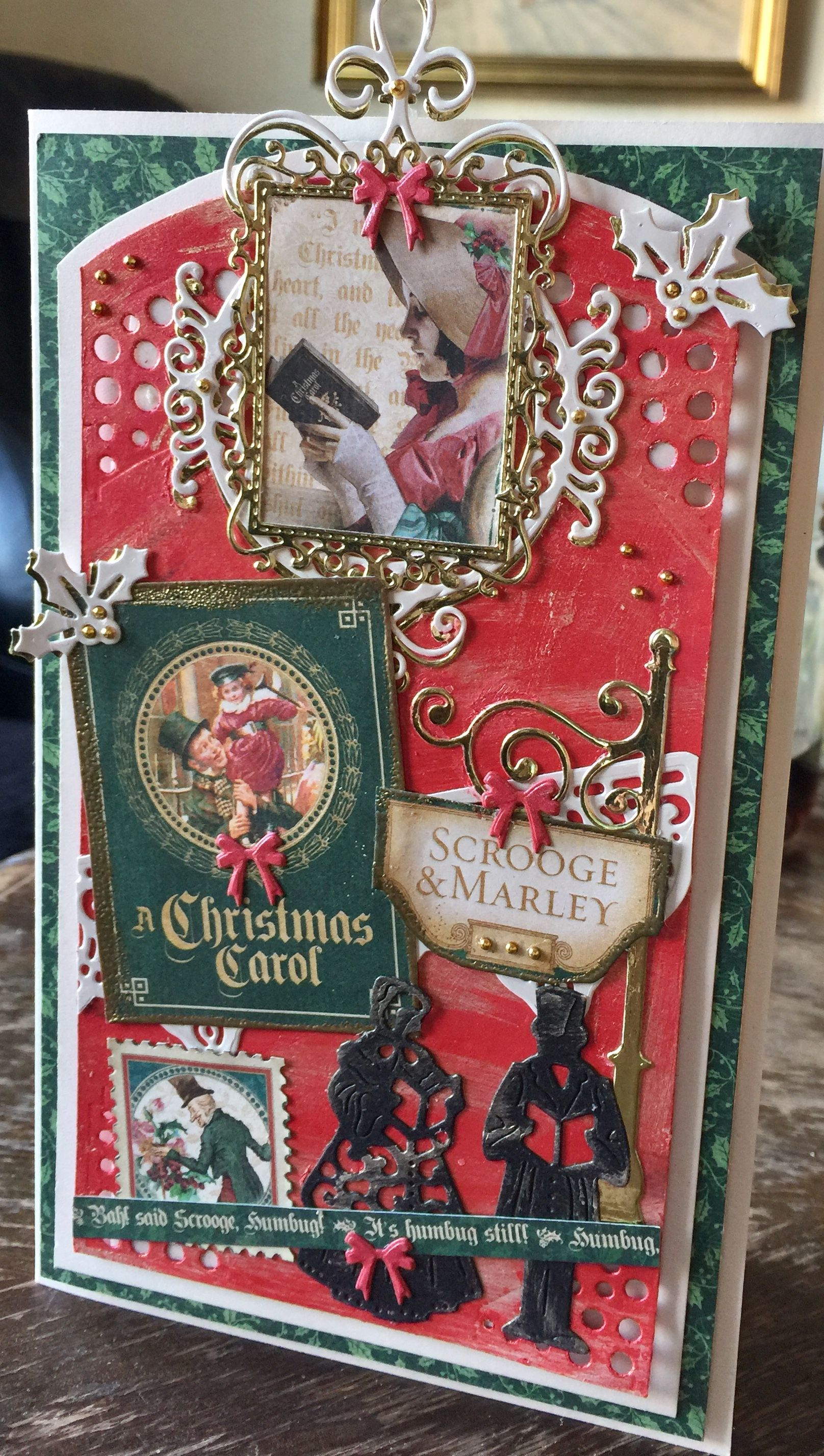 Graphic 45 christmas cards made by my Big Shot and me | Graphic-45 ...