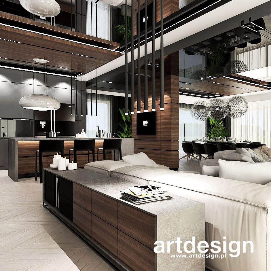 Salon Z Kuchnia I Jadalnia Second To None Wnetrza Rezydencji Luxury Homes Interior House