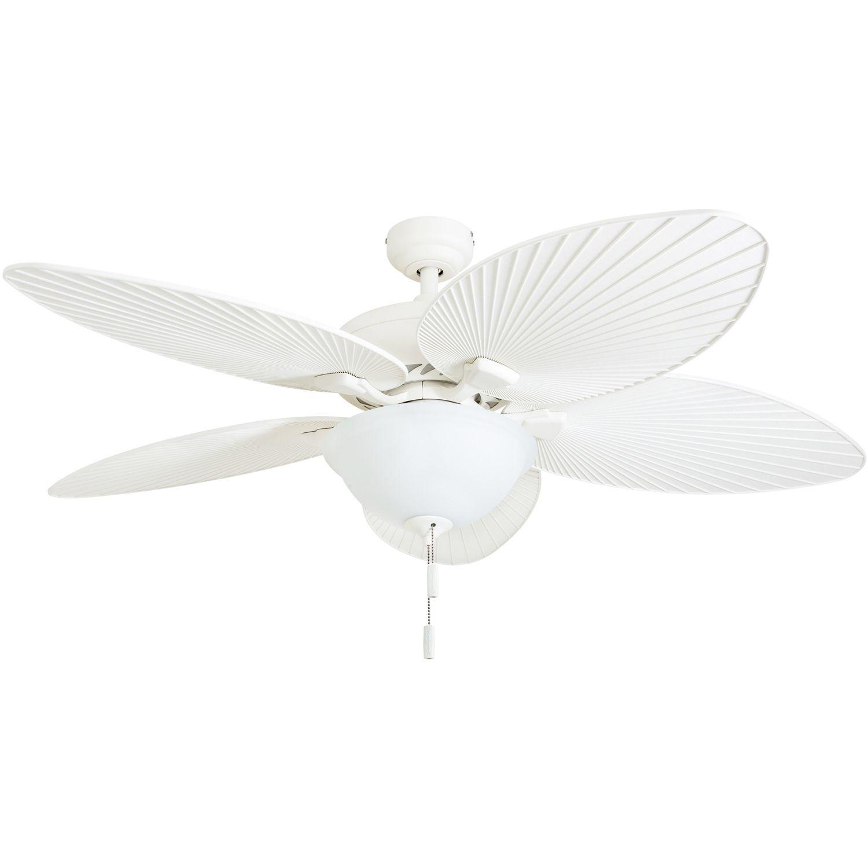 Honeywell Palm Island 52 White Tropical Led Ceiling Fan With Light Palm Leaf Blades Walmart Com Ceiling Fan With Light Led Ceiling Fan Ceiling Fan