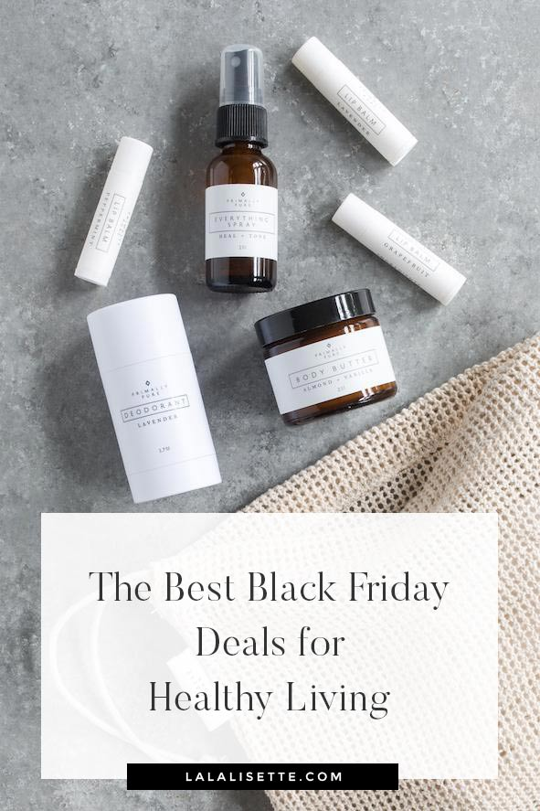 The Best Online Black Friday Deals on Healthy + Natural Living from clean beauty, clean eating, grass-fed beef, organic mattresses and more! #healthyliving #healthylivingdeals #blackfridaydeals #blackfridaysales