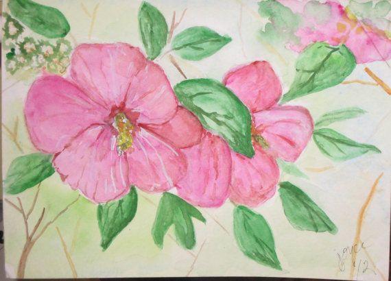 Send your Mom an Original Watercolor Mini Painting Greeting Card by joyceweaver, $6.50