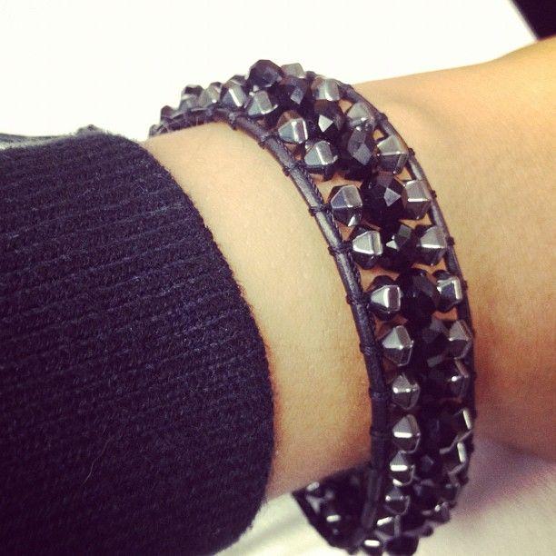 Chen Rai Triple Row Black Hematite Single Wrap Bracelet $38