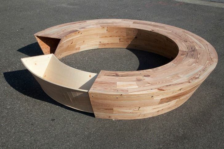 Round Bench Seating Part - 20: Louis Limu0027s Roundu0026Round Is A Circular Bench Made Of Reclaimed NYC Wood