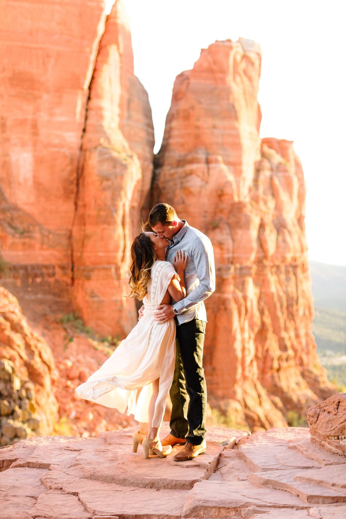 Cathedral rock sedona engagement sarah devon arizona