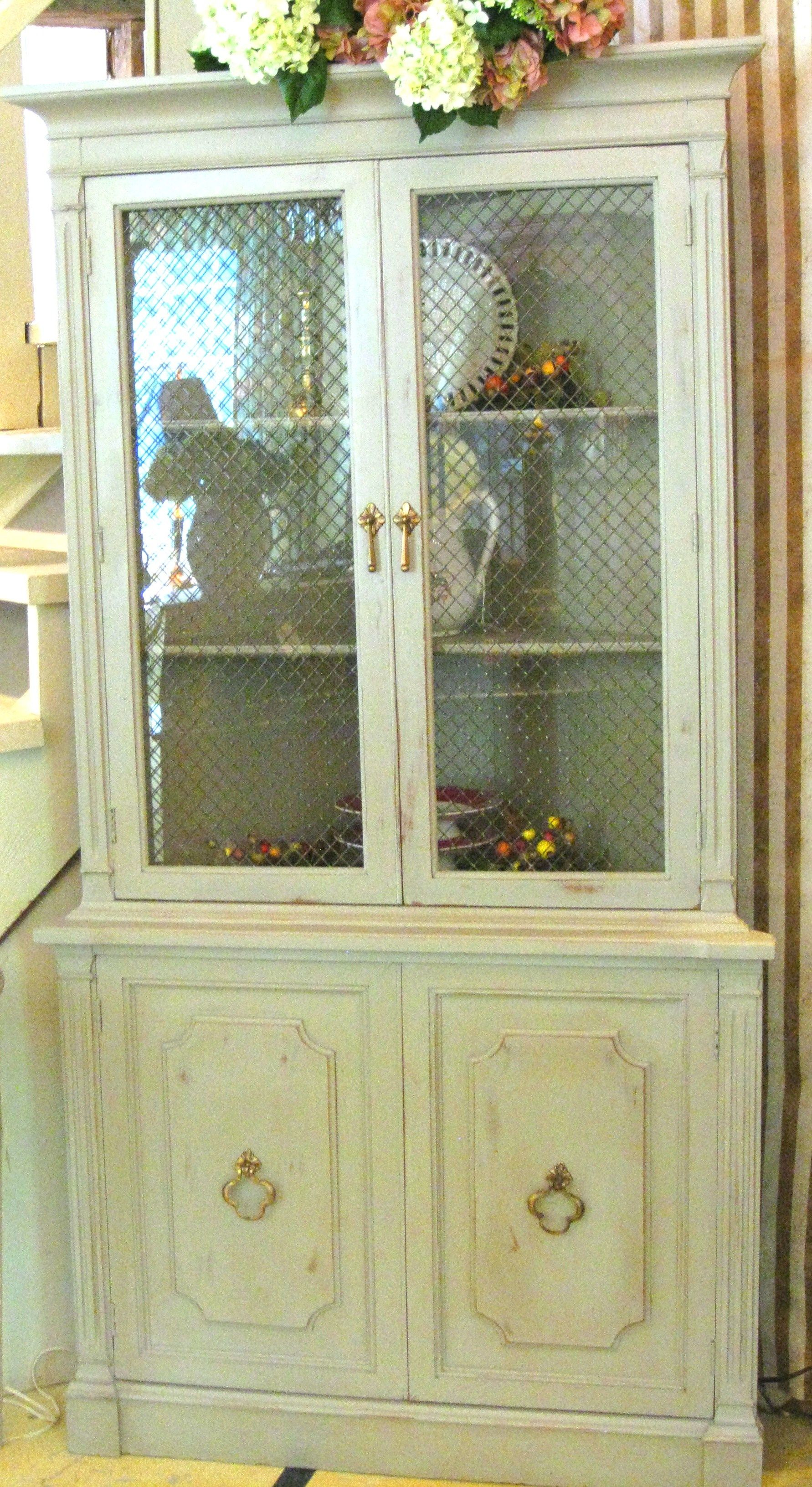 Vintage Corner Cupboard painted with a custom mix of Chalk Paint by