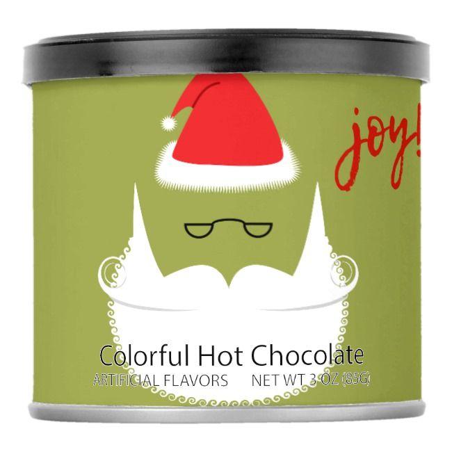 Ho Ho Ho Holiday Colorful Hot Chocolate Powdered Drink Mix    Ho Ho Ho Holiday Colorful Hot Chocolate Powdered Drink Mix