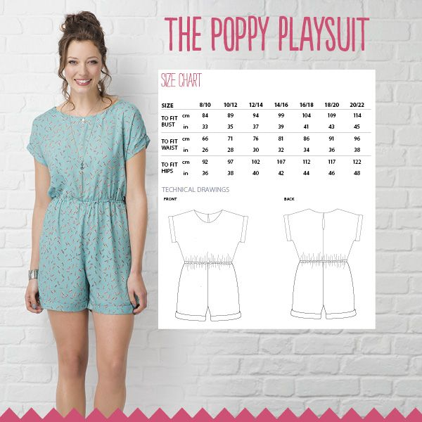 The Poppy Playsuit | Playsuits, Sewing patterns and Sewing magazines