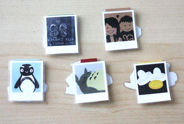 Polaroid Bookmark Magnets Front Polaroid Bookmark Magnets Back