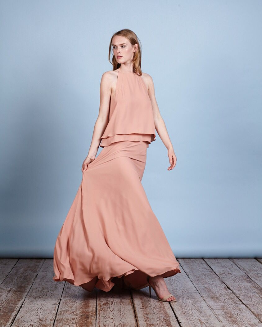 Best wedding dress boutiques in london  Make an entrance The Havana top and skirt in Peachy from