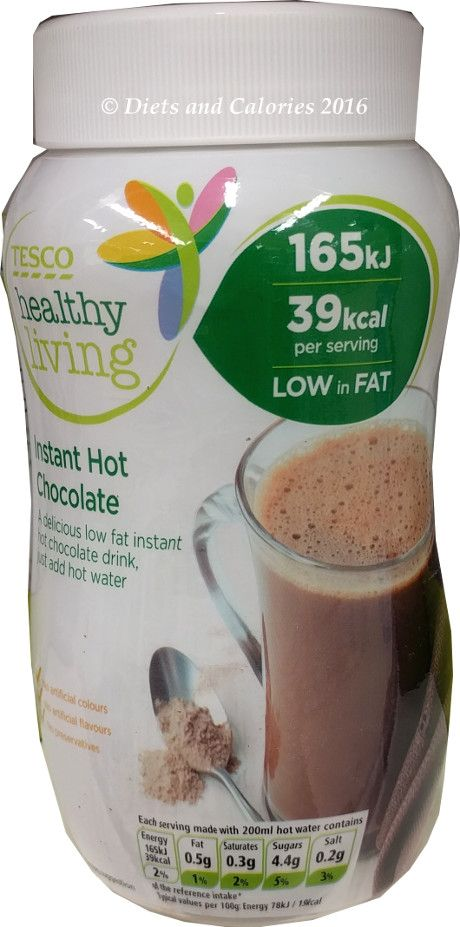 Tesco Healthy Living Low Calorie Hot Chocolate Hot