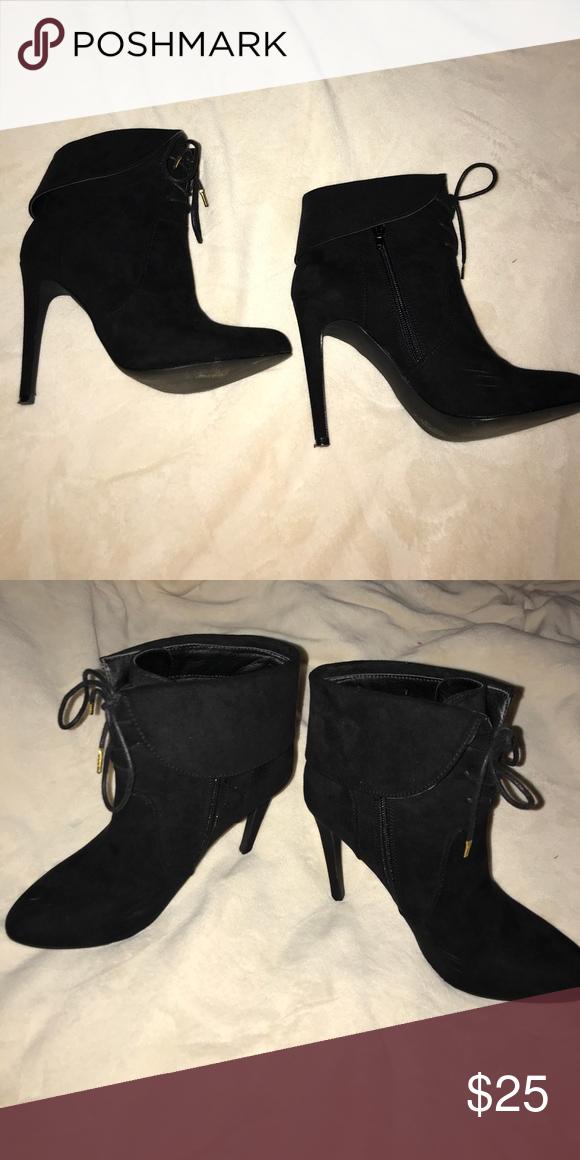 black booties 4 inch heel