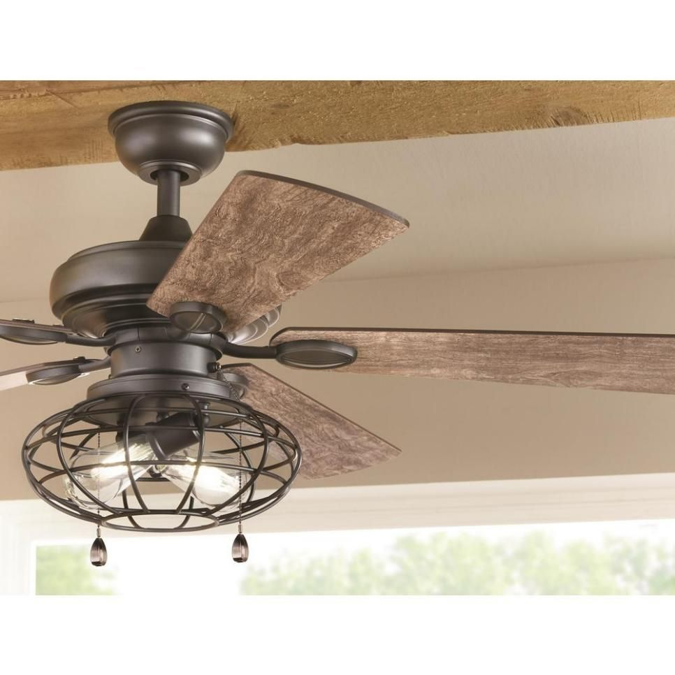 Hunter 52 Brittany Bronze Rustic Cabin Ceiling Fan W 4 Shade