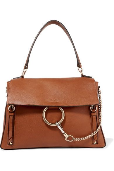 7f0c30c3e Chloé | Faye Day large textured-leather shoulder bag | NET-A-PORTER.COM