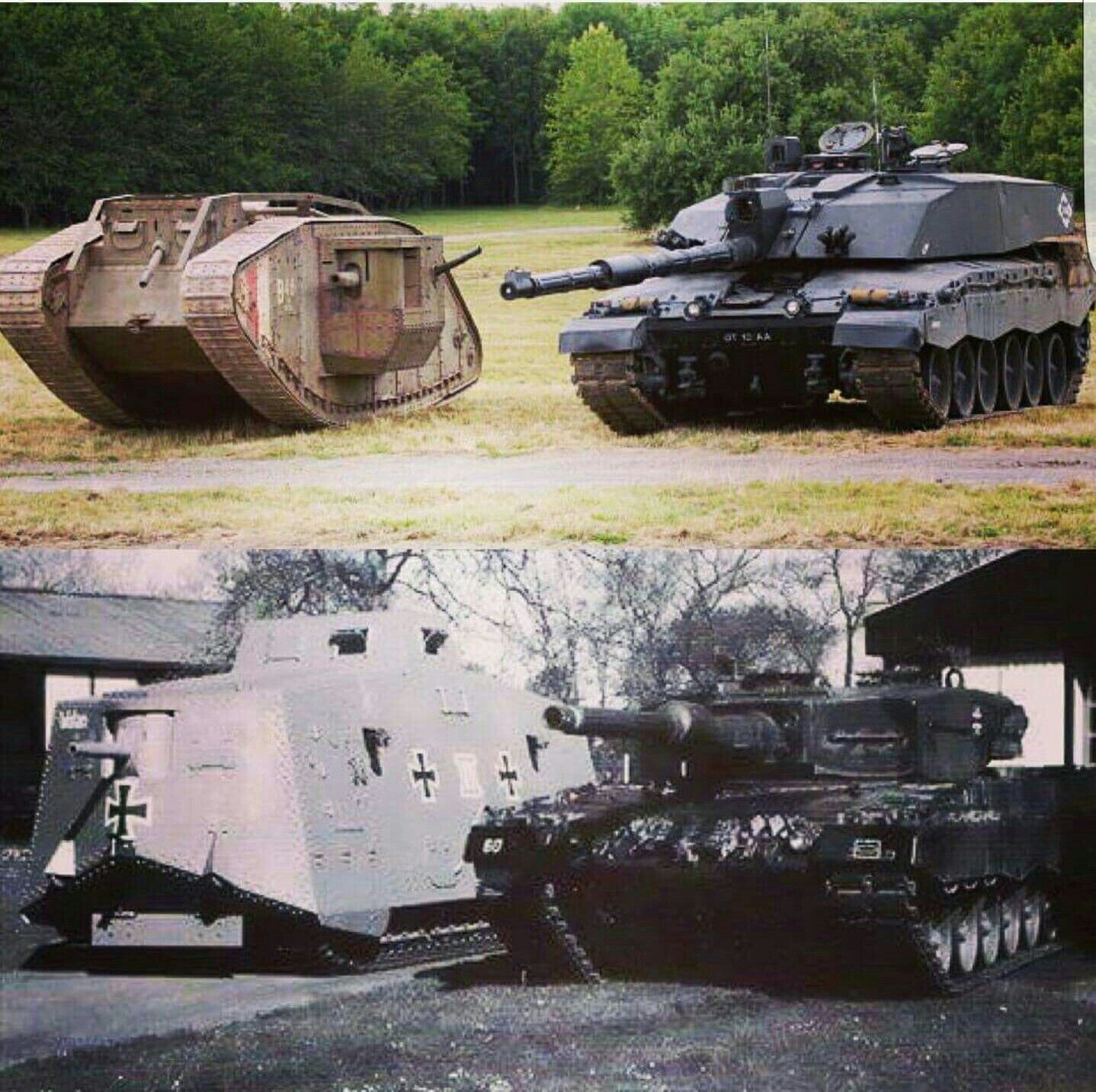 Olds And Mark Iv-challenger 2 A7v-leopard A4