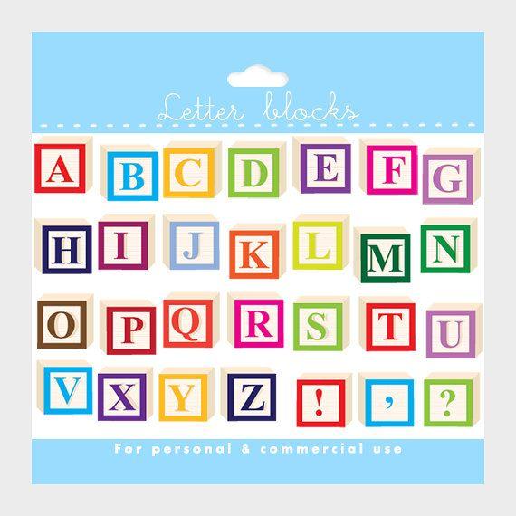 Alphabet Clipart  Letter Blocks Clip Art Letterblocks Clipart