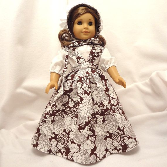 American Girl doll dress.  Fivepiece brown and by SewMuchCare, $17.50