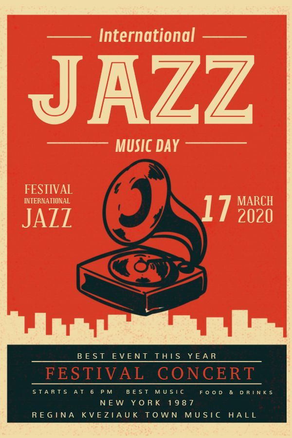 Vintage Jazz Poster -  Custom Vintage Jazz Concert Poster/Flyer Design  - #Beach...