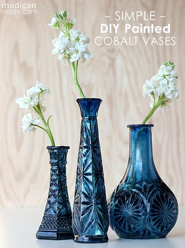 Diy Glass Vase Makeovers Diy Glass Painting Glass Jars Glass