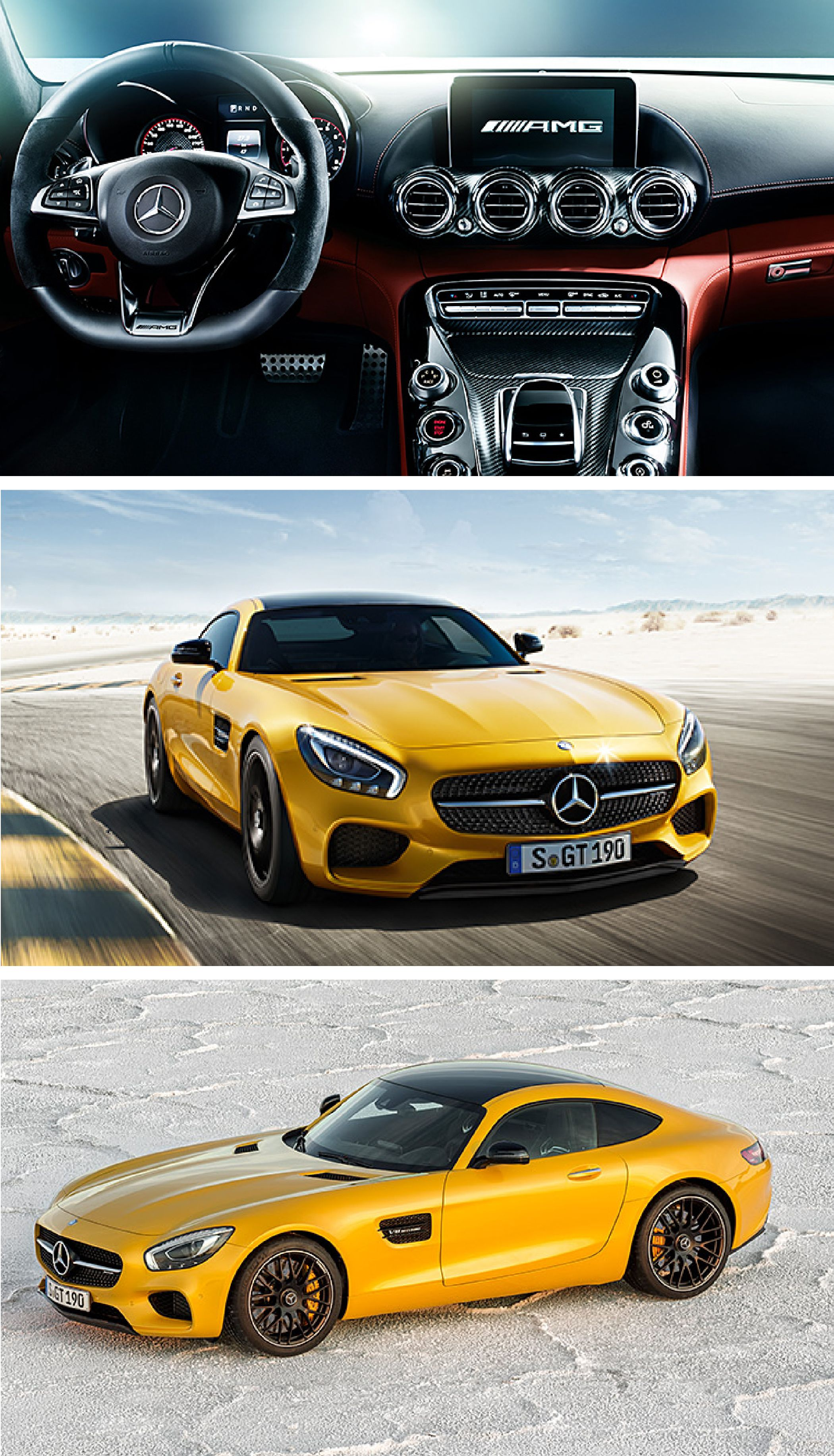 The new Mercedes-AMG is handcrafted by racers and has driving performance for car enthusiasts. It has everything you would expect from a sports car—from the characteristic styling and thoroughbred motorsport technology to the optimum weight distribution.