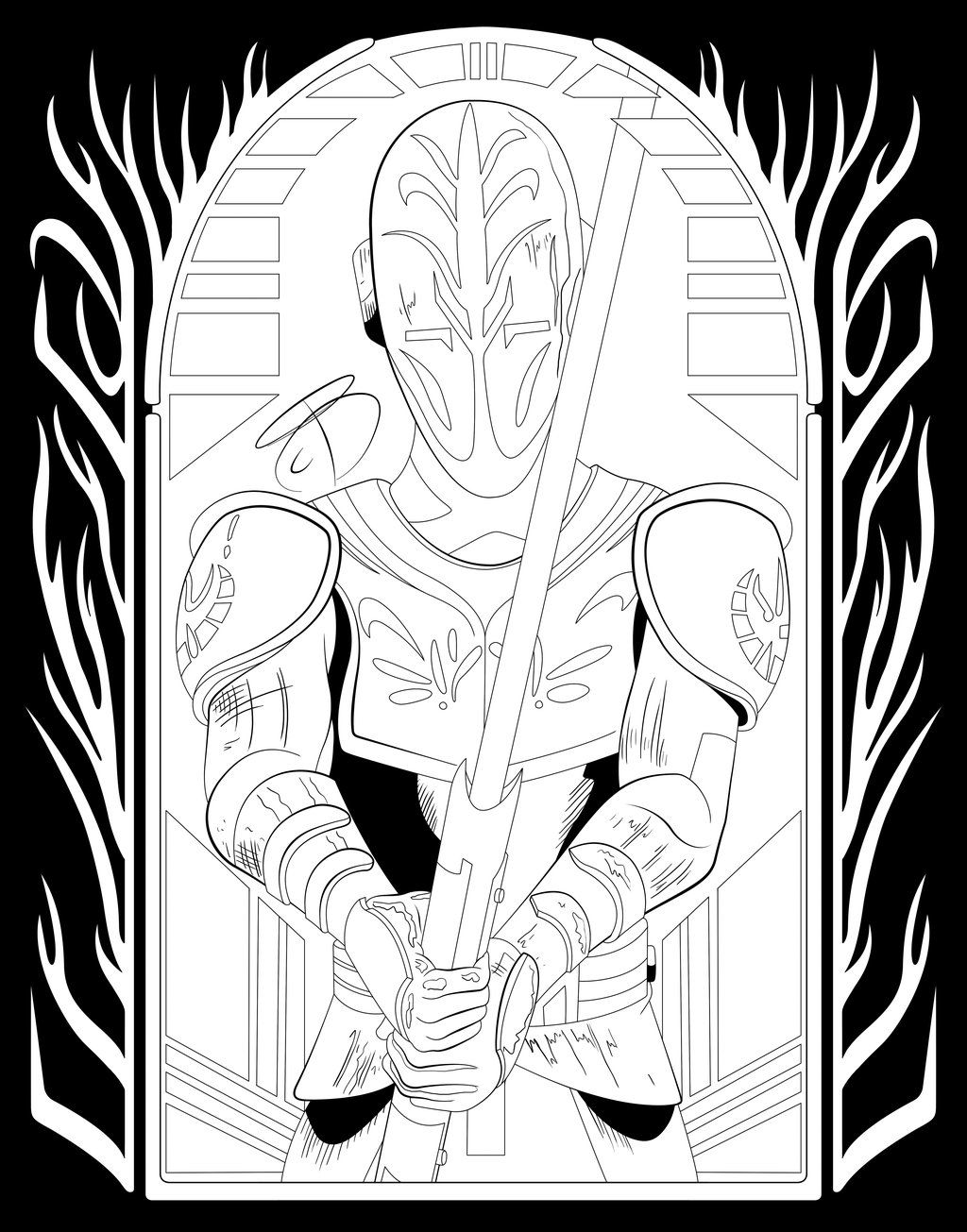 Coloring Pages Jedi Temple Guard by RCBrock on DeviantArt Coloring PagesTemplesStar Wars