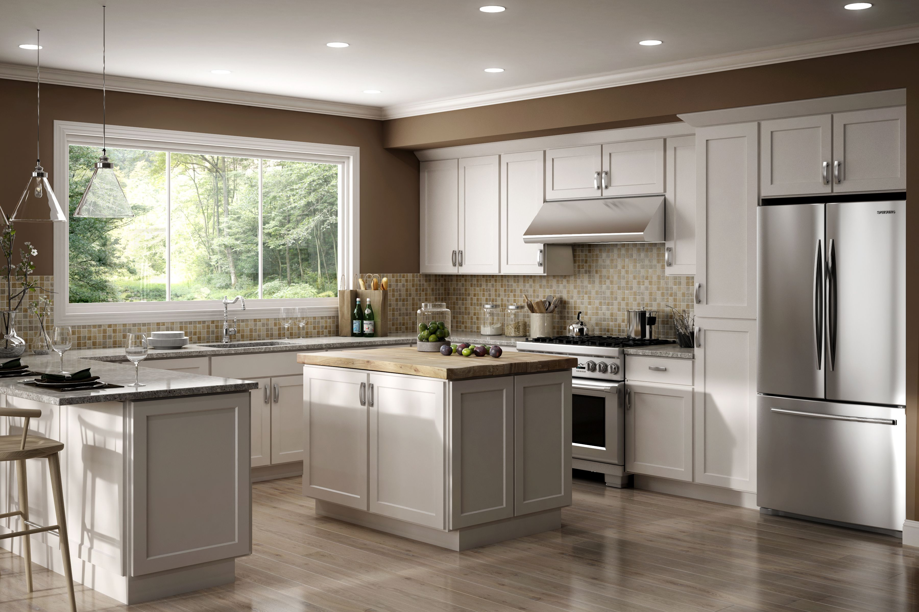 The Luxor Door Style Is Perfect For Either Traditional Or Contemporary Decor This Wide Sh Classic Kitchen Cabinets White Shaker Kitchen Kitchen Cabinet Styles