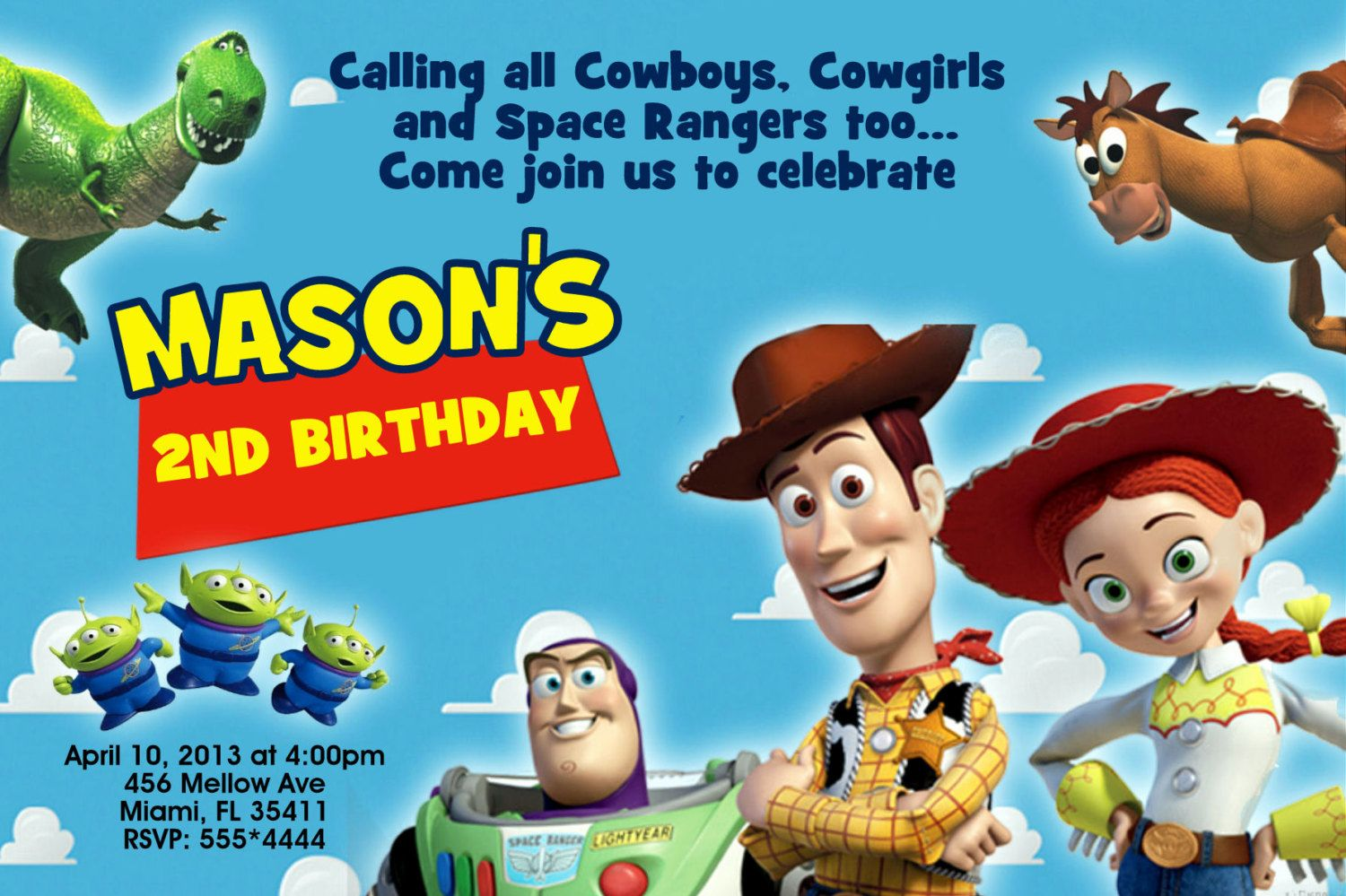 Free Toy Story Birthday Invitations Templates Baby Invites In 2019
