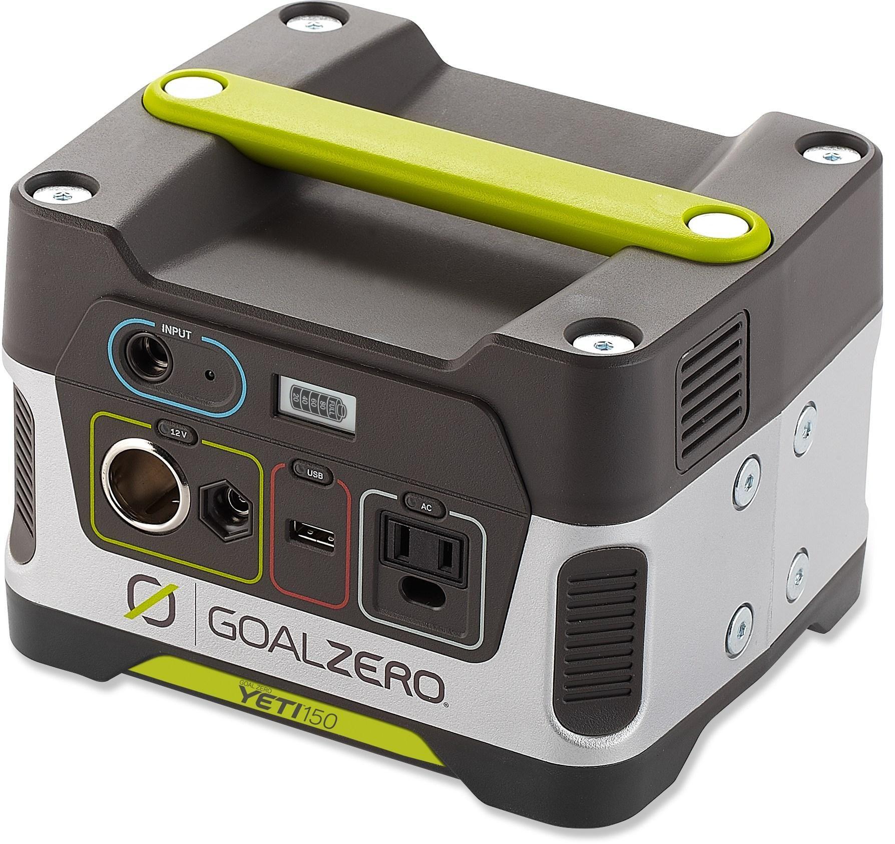 Goal Zero Yeti 150 Portable Power Generator Solar Powered Generator Solar Generator Camping Supplies