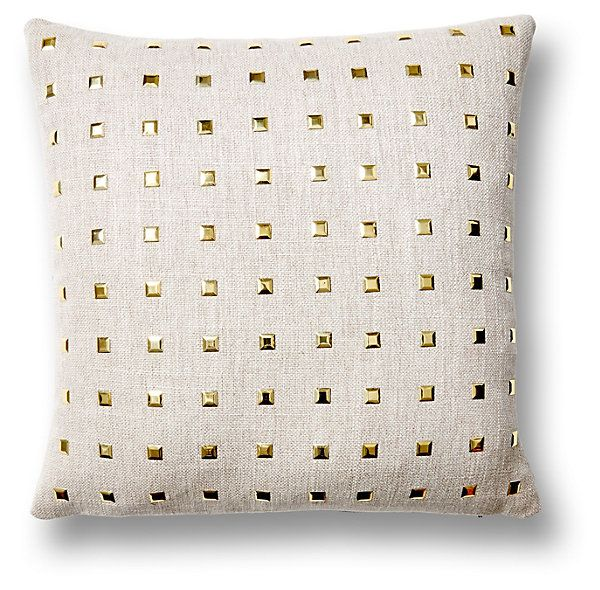 Glamour 16x16 Cotton Pillow, Gray | Uptown/Downtown | One Kings Lane