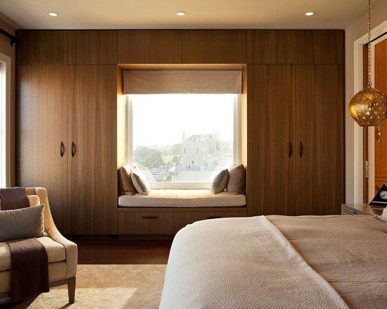 Window Seat In Between Wardrobe Cupboards Window Seat Design