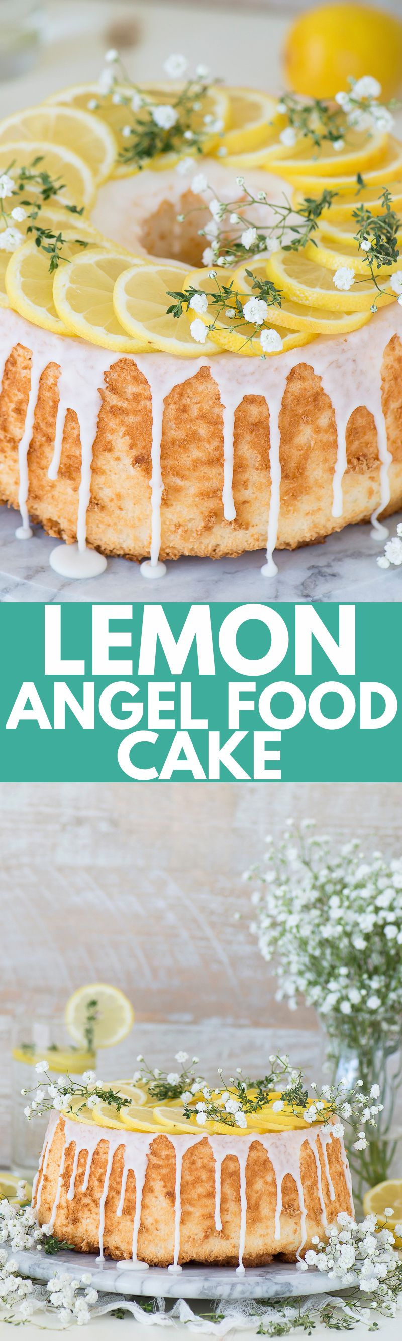 Easy And Rustic Lemon Angel Food Cake That Begins With A